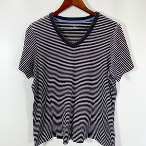 Lands End Knit Top Short Sleeve Tee Shirt Cotton